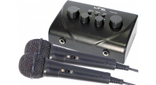 Karaoke mixer met twee microfoons