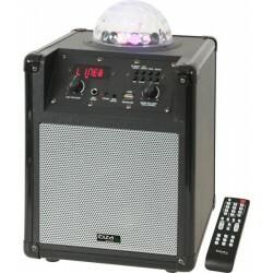 Mobiele Luidsprekerbox met RGB LED ASTRO effect - Zilver