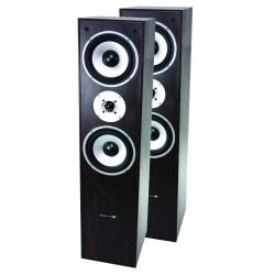3-weg HiFi Bass reflex luidsprekers 350W - Walnoot