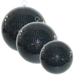 Zwarte Spiegelbol  20cm