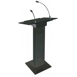 Actieve conferentie lessenaar met ingebouwde speakers -zwart