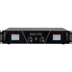 2 x 800W PA Versterker met LED matrix display