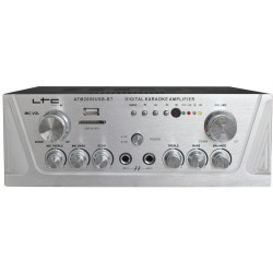 Stereo versterker araoke, USB/SD/MP3 & Bluetooth 2x50W