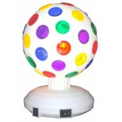 RGB LED Disco Ball - 15cm - Wit