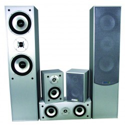 5.0 Home Theater systeem - Zilver
