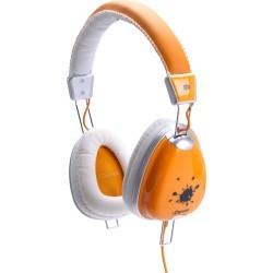 Fashion Headphone FUNKY-300 ORANGE/WHITE/GREY