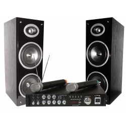 Karaoke set met digital display, Bluetooth & 2 VHF Microfoon