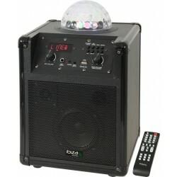 Mobiele Luidsprekerbox met RGB LED ASTRO effect - Zwart