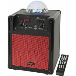 Mobiele Luidsprekerbox met RGB LED ASTRO effect - Rood