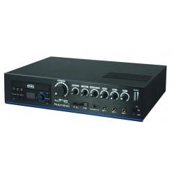 4-kanaal 100V Versterker 210W met DVD & USB/SD-MP3 Speler