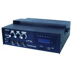 3-kanaal 70V Versterker 60W met USB/SD-MP3