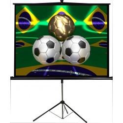 """Projectiescherm met driepoot standaard 112"""" / 2,85m"""