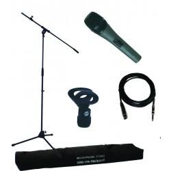 Microfoon  pack met standaard en draagtas